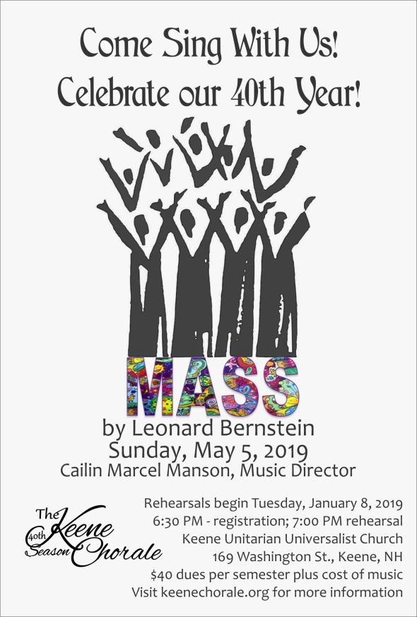 Come and sing Mass with us! Celebrate our 40th Year!